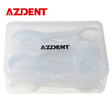 AZDENT Tooth Cleaner 50 PCS Dental Floss Oral Care Teeth Stick Flossers Pick ToothPicks With Floss Dental Flosser Oral Hygiene(China (Mainland))