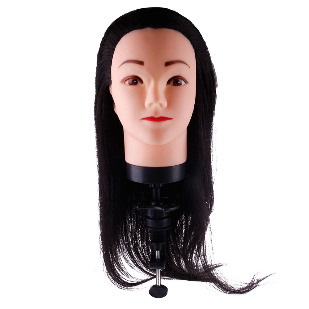 Practical Mannequin HeadSynthetic Head Hairdressing Human Hair Mannequin Clamp Practice Model Training #48680(China (Mainland))
