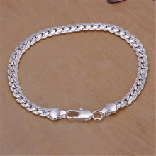 Buy Personalized Men silver plated 5mm snake sideways bracelets new high fashion jewelry Christmas gifts for $1.15 in AliExpress store