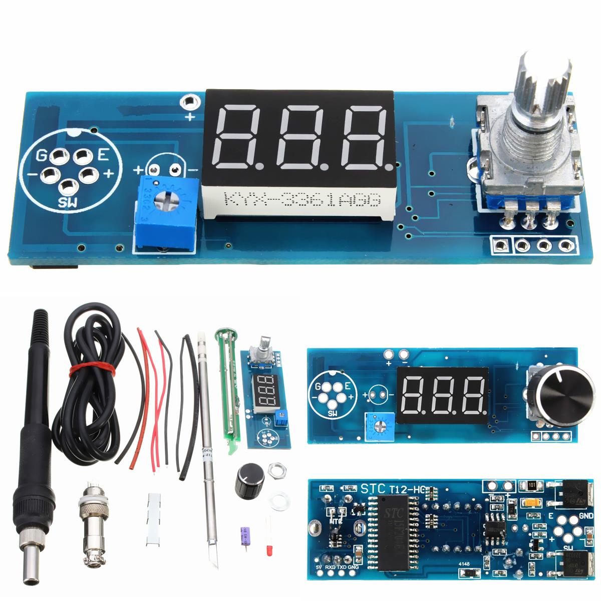 Soldering Iron Station Temperature Controller Kits T12 Handle from #14496C