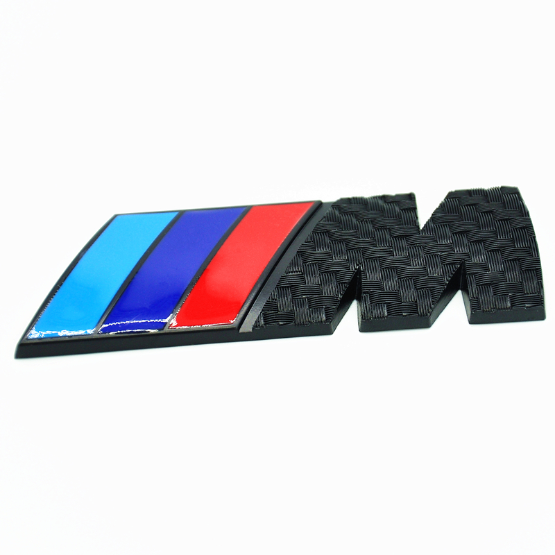 M Tech Sport Front Grill Rear Trunk Badge Carbon Look M