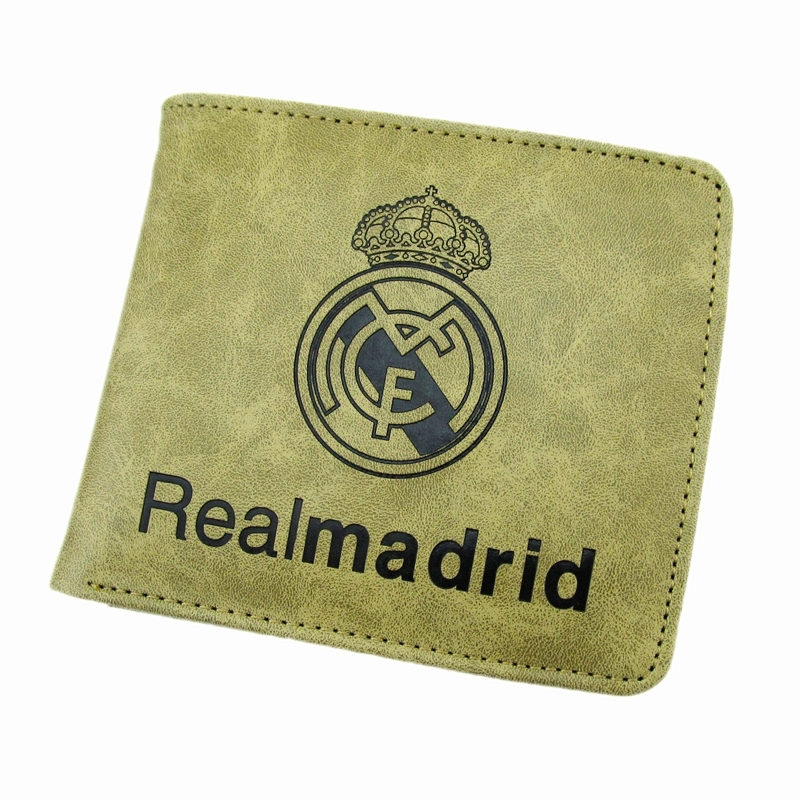 Free Shipping Soccer Club Real Madrid Wallet Football Team Logo Leather Real Madrid Purse Money Bag Gift(China (Mainland))