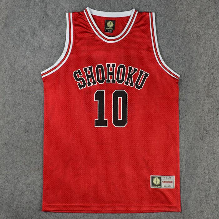 Shohoku School Basketball Team 1-15 Sakuragi Hanamichi Jersey Tops Shirt Sports Wear Uniform SLAM DUNK Cosplay Size S-XXL(China (Mainland))