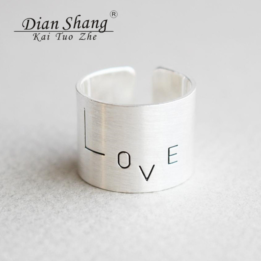 DIANSHANGKAITUOZHE Vintage Adjustable Wide Band Ring For Women and Men Gold Silver Copper Lover Statement Finger Ring 2016