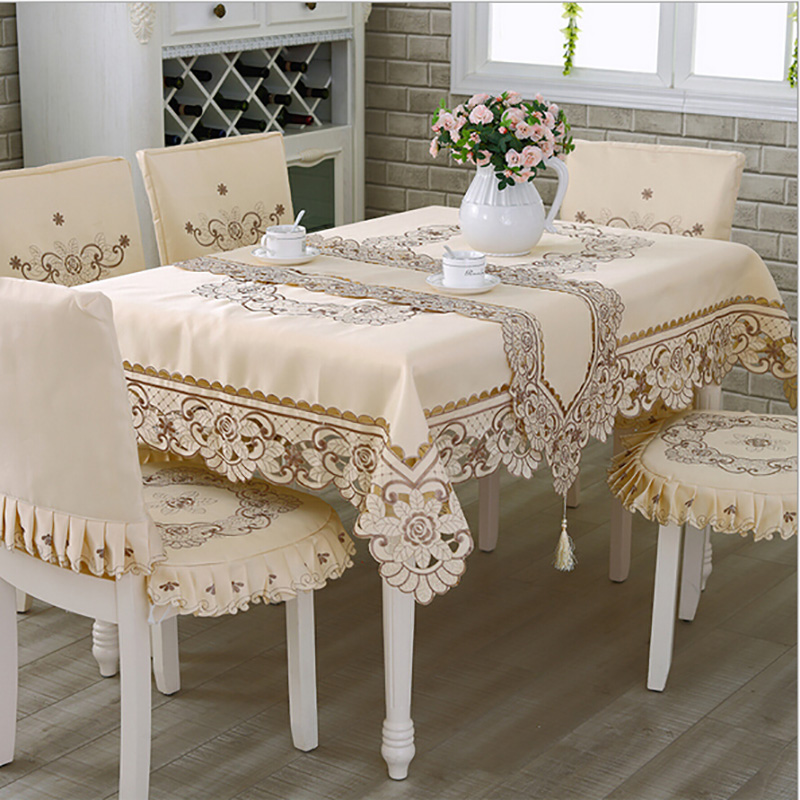 Europe Polyester Tablecloth Embroidered Tablecloth Square Floral Home Hotel Wedding Table Cover Decorative toalha de mesa(China (Mainland))
