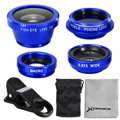 4in1 Fish Eye Wide Angle Macro CPL Lens Fisheye For iPhone 4S 5S 6 Plus DC643