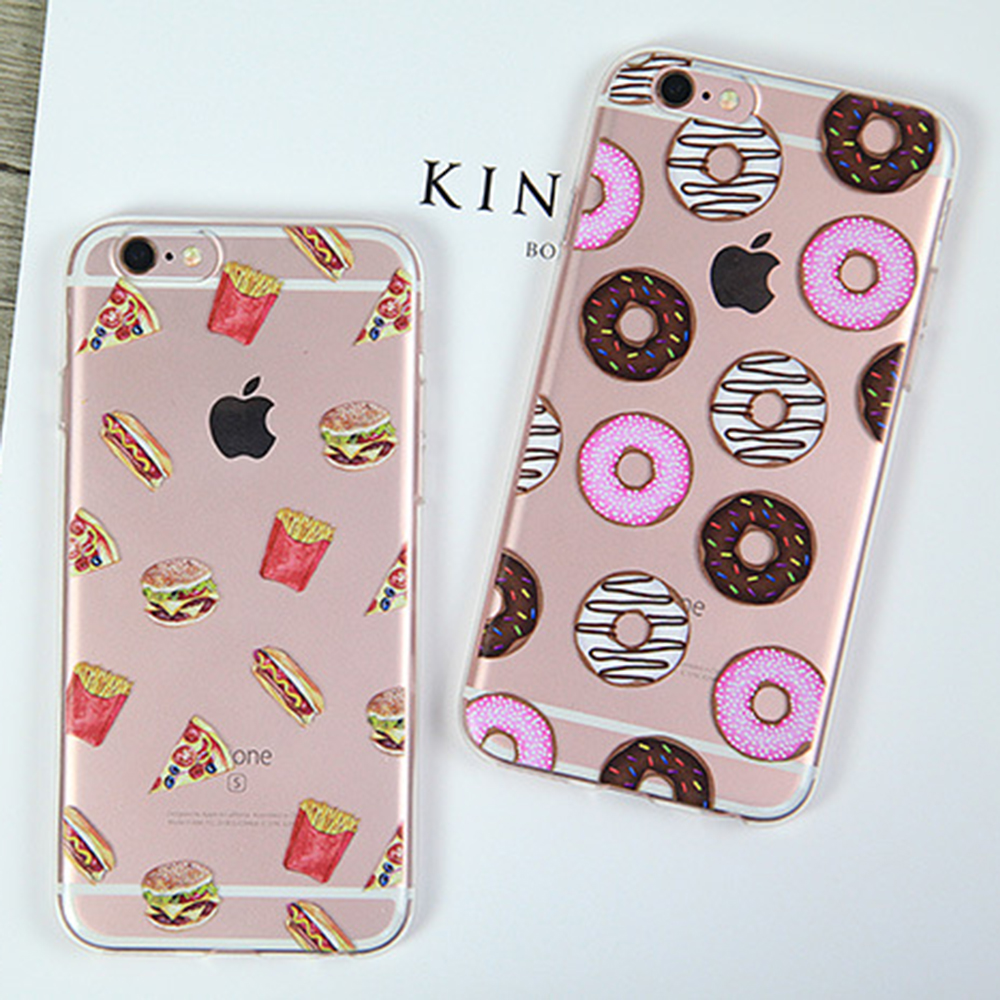 Lemon Ice Rose Flamingos rabbit Donuts Popsicle Transmission tower Cherry blossoms banana soft TPU case cover for iPhone 6 6S(China (Mainland))