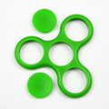 High Quality Tri-Spinner Fidget EDC Fidget Spinner For Rotation Time Long Hybrid eramic Bearing Anti Stress Keep Hands Busy