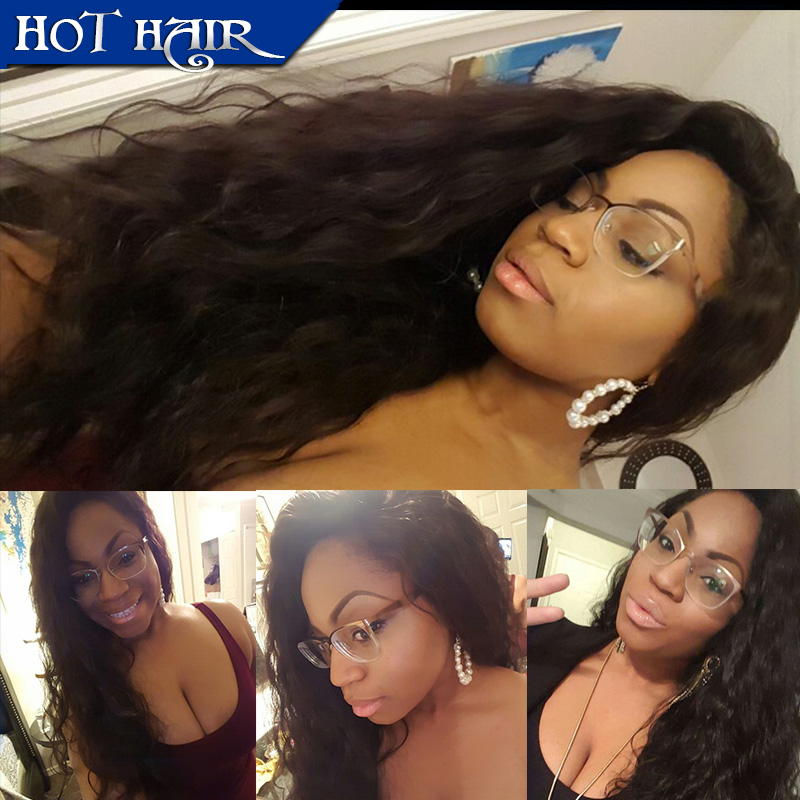 Unprocessed lace front wig virgin full lace human hair wigs brazilian body wave wigs 8-26 inch stock glueless full lace wigs(China (Mainland))