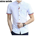 2016 Casual Men Shirts Fashion Chemise Homme Youth Solid Business Shirt Camisa Social Masculina Brand Clothing