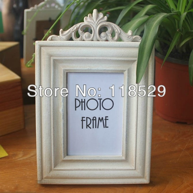 Square Shape Vintage Style Hallow Photo Frame Rural Wooden Home Decoration Gift L size,#11015 - J&P Store store