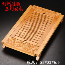 Bamboo tray tea set tray tea tea of the horse into relief tea