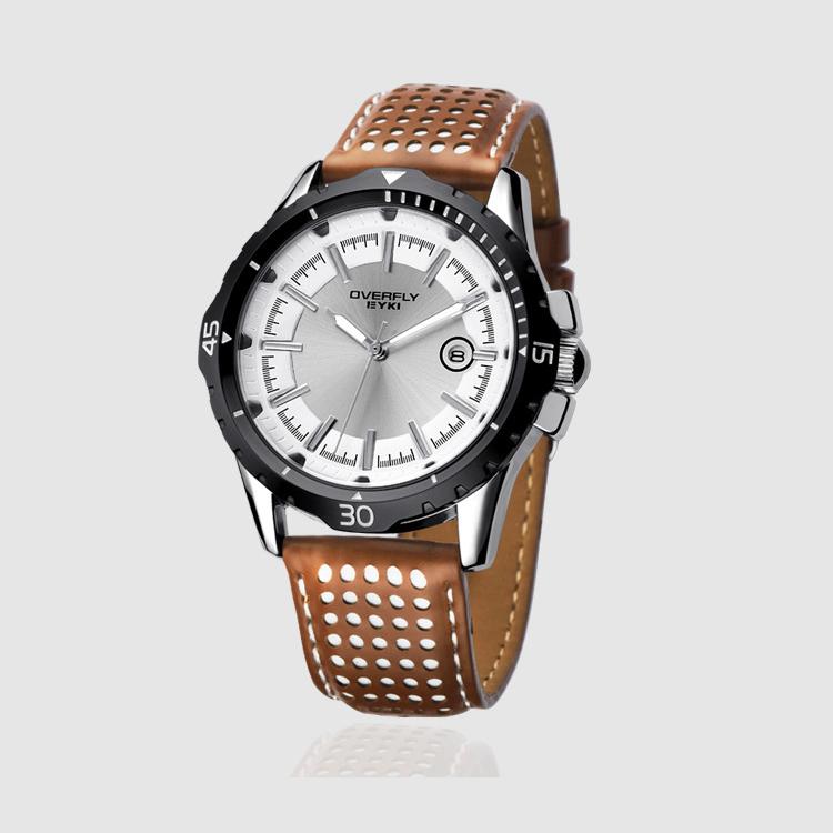 2016 New Luxury Brand Eyki Quartz Male Watch Casual Fashion Genuine Leather Strap Waterproof Sports Watch Wrist Watches For Men <br><br>Aliexpress