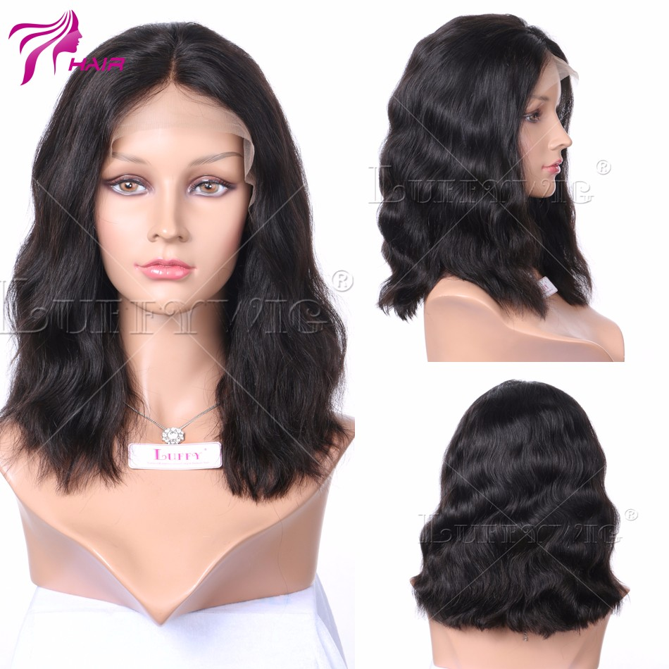 Top Quality 10A Brazilian Virgin Human Hair Lace Front Wigs Short Bob Natural Wave Full Lace Human Hair Wigs For Black Women