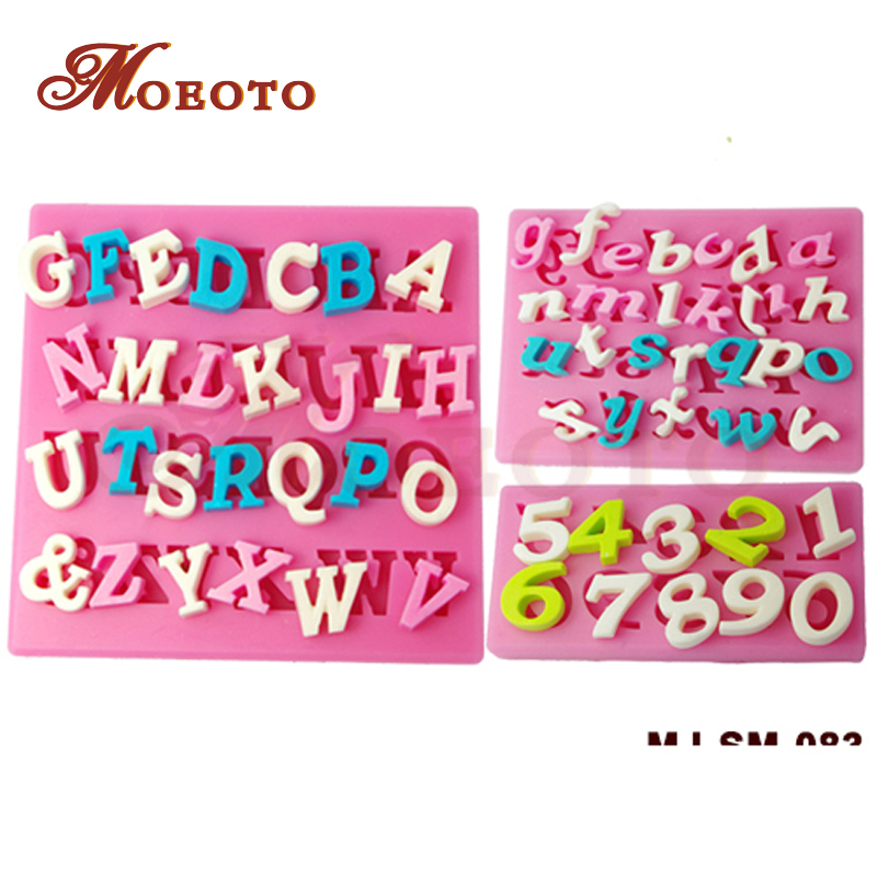 Free Shipping/3D Silicone Numbers and Letters Cake ...