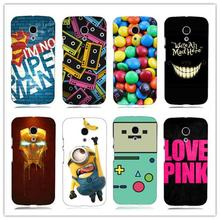 despicable me minions iron man adventure time  white Hard Back Case Cover for Motorola Moto G2 G+1 2014 2nd Gen XT1068 XT1069