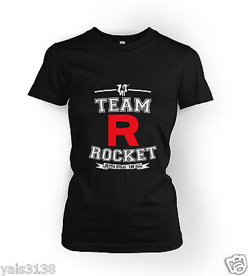 Pokemon T-Shirt. Team Rocket Gotta Steal 'Em All. LADY FIT Many sizes available(China (Mainland))