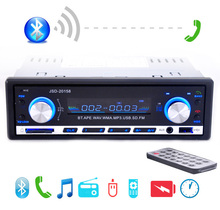PANLELO 12V Digital Car Radio Stereo Player Bluetooth Audio Music MP3 Dash 1 DIN FM AUX-IN SD USB - Yz-top store