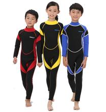 2.5MM Neoprene Wetsuits Kids Swimwears Diving Suits Long Sleeves Boys Girls Surfing Children Rash Guards Snorkel One Pieces DCO(China (Mainland))