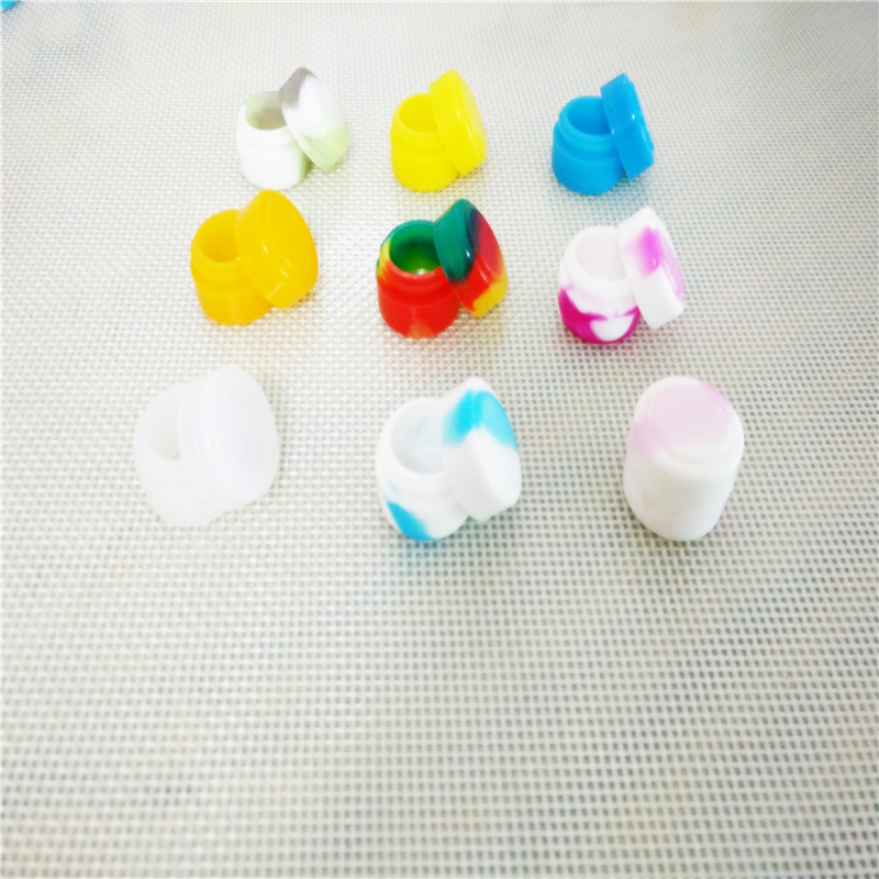 OD 26 * ID 18 * T 15 Mm Best selling oil slick small silicone jars dab wax container butane oil silicone container 2 ml(China (Mainland))