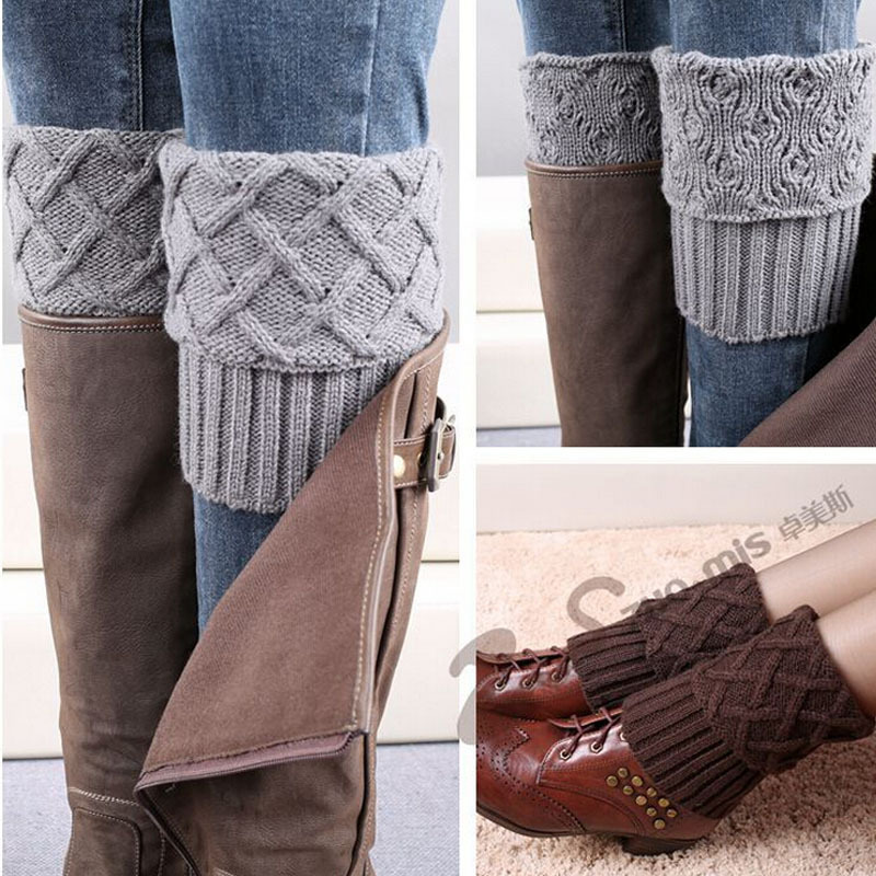 Free Knitting Patterns Leg Warmer Socks : Gaiters Crochet Knit Boot Cuffs Boot Socks Crochet Free Patterns Thermal Boot...