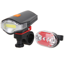 Buy Bicycle Front Rear Lights COB LED Bike Cycling Front Rear Tail Light + 5 LED Taillight Night Bike Light Accessories High Quality for $3.97 in AliExpress store