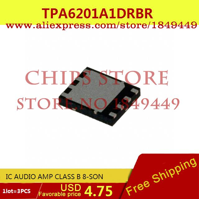 Free Shipping Electronic Components TPA6201A1DRBR IC AUDIO AMP CLASS B 8-SON 6201 TPA6201 3pcs(China (Mainland))