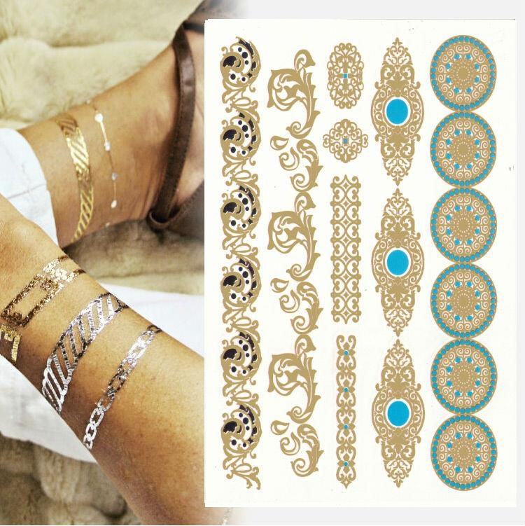 1pcs [799 designs] High Quality Flash Tattoo Sticker hHenna Tatoo Flash Temporary Tatto Summer Style Gold Tatto Promotion Cheap!(China (Mainland))