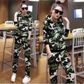 Survetement Sudaderas Mujer 2016 Hoodies Women Sweatshirt Pants Hooded Camouflage Tracksuit Women Plus Size Two Piece