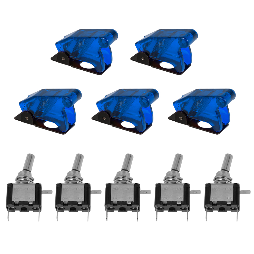 20A/12v Illuminated Blue LED Toggle Flick Switch ON/OFF Missile Style Car Van TE458(China (Mainland))