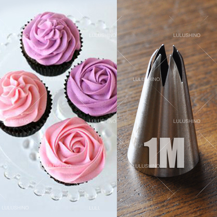 Cake Decorating Rose Nozzle : DIY Stainless Steel Drop Rose Nozzles Rose Icing Piping ...