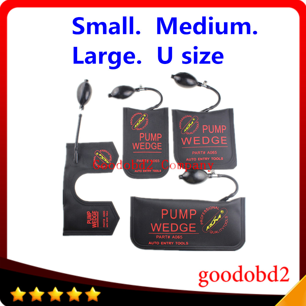 KLOM Pump Wedge Locksmith Tools Auto Air Wedge Airbag Lock Pick Set Open Car Door Lock Black S/M/L/U 4pcs/lot(China (Mainland))