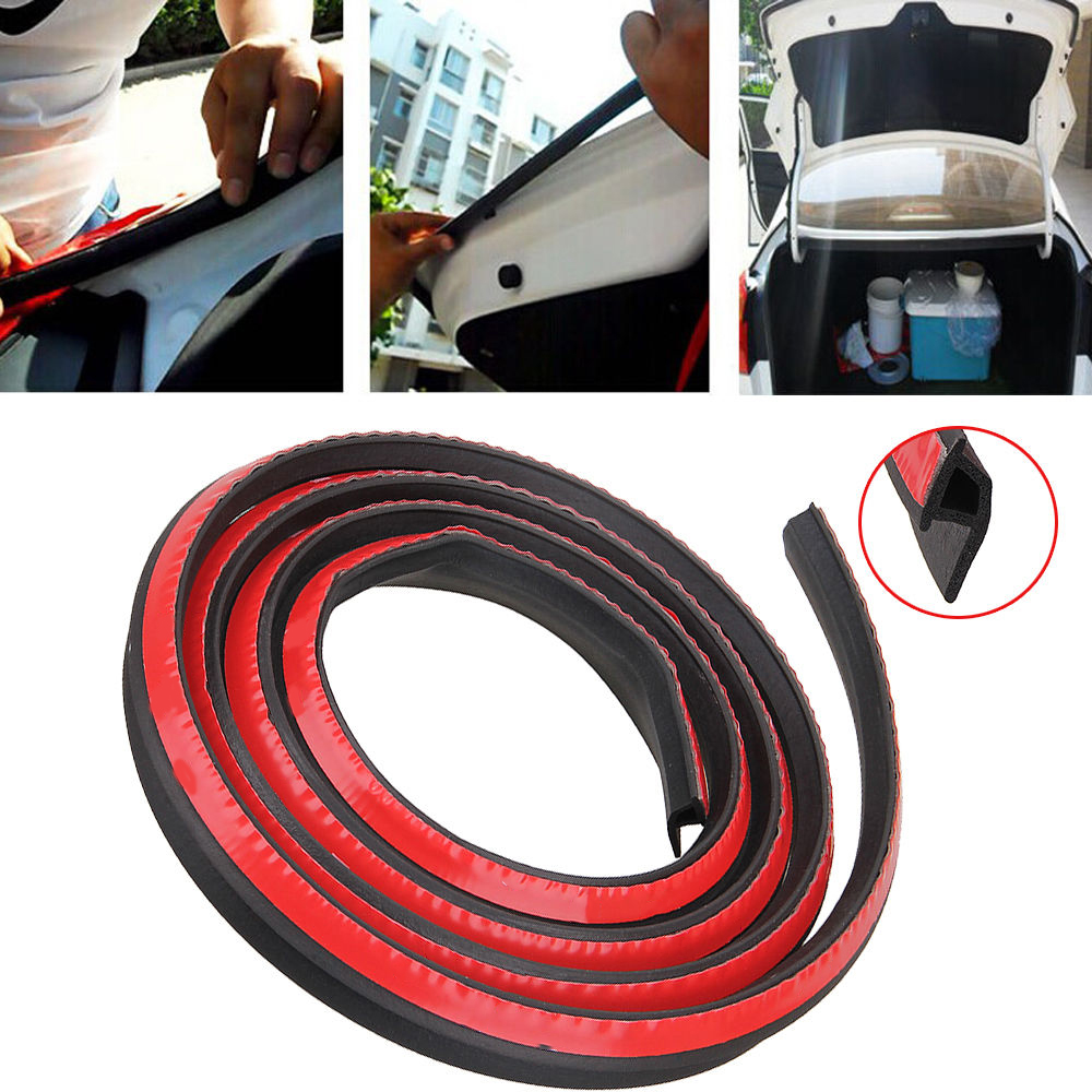 Universal Car Sound Insulation 2m P/D-Shape Sound Proof Strip Edge Side Seal Weatherstrip Rubber Black Car Door Seal(China (Mainland))