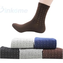 Mens Dress Socks Shoes Cotton Casual Crew *Business Socks 1 Pair high quality Soft Medium Socks One Size