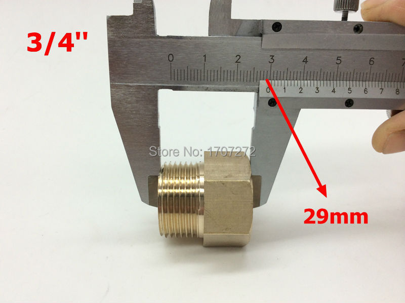 """free shipping BSP 3/4"""" Male Threaded 3/4"""" Female Threaded Brass Coupler Adapter Brass Pipe Fitting(China (Mainland))"""