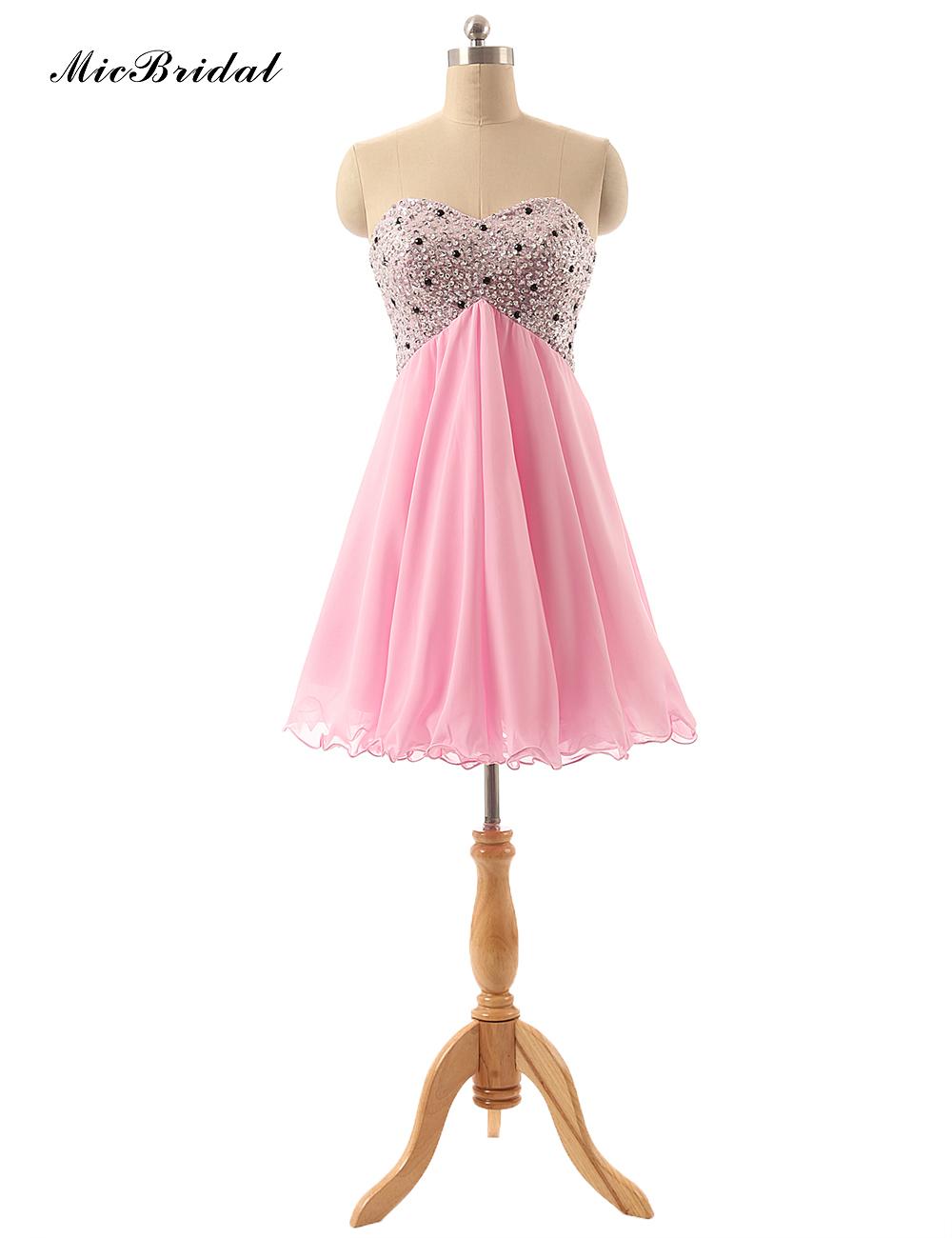 micbridal 2016 short prom dresses pink femme robe de. Black Bedroom Furniture Sets. Home Design Ideas