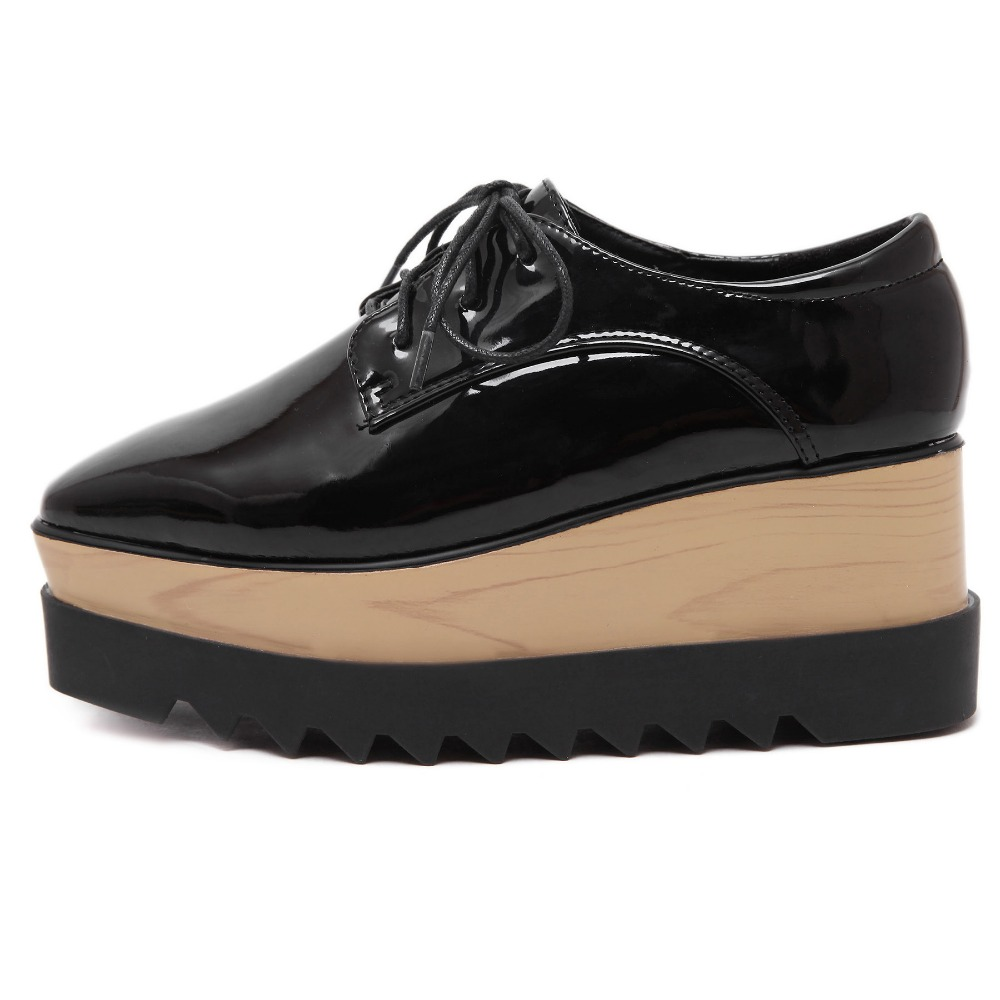 Creepers Size 35-39  women Shoes Woman Casual plus size zapatos mujer ladies creepers platform shoes Women Flats shoes platform