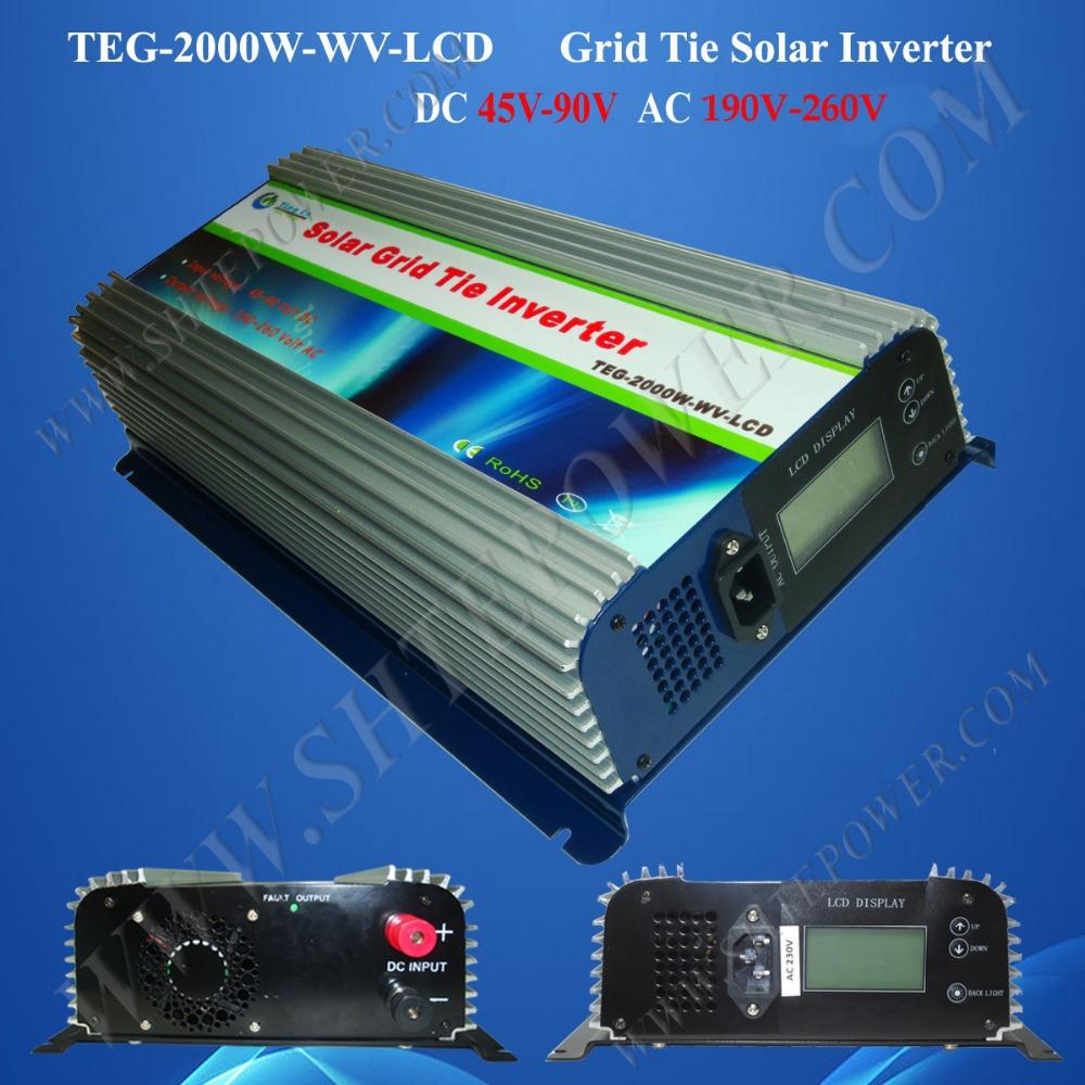 2kw grid tie solar panel inverter 48v to 220v 230v 240v(China (Mainland))