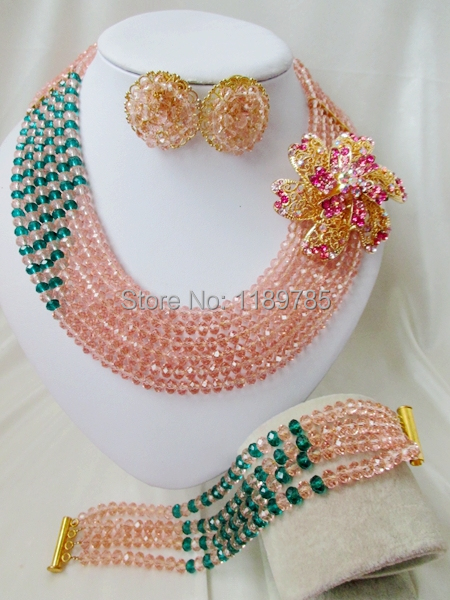 Preferred Special offer Nigerian Crystal Beads Women Fashion Beads Jewelry Set Wedding Bridal Jewelry Set Free Shipping A-12104<br><br>Aliexpress