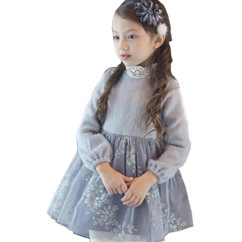 Spring baby girls dress designs princess dresses new 2016 winter girl party clothes children clothing<br><br>Aliexpress