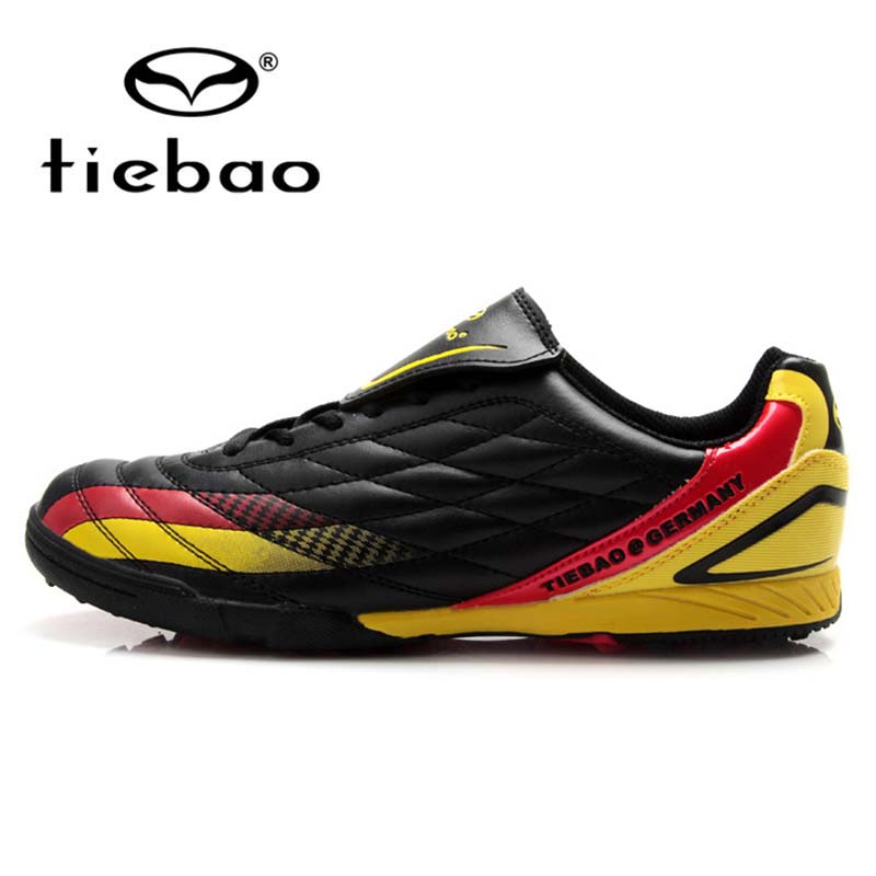 TIEBAO Professional National Flag Indoor Soccer Shoes National Flag TF Turf Sole Football Shoe Men Women Athletic Training Boots(China (Mainland))