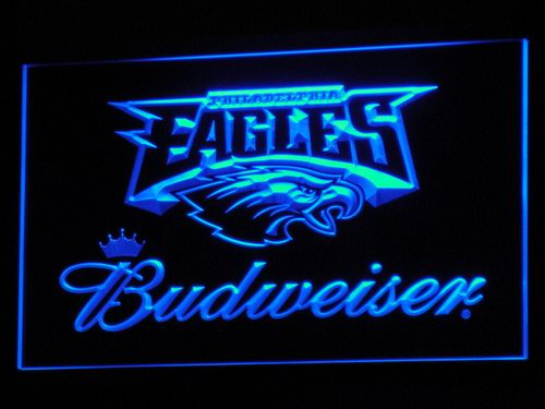b284 Philadelphia Eagles Budweiser LED Neon Sign with On/Off Switch 7 Colors to choose Plastic Crafts(China (Mainland))