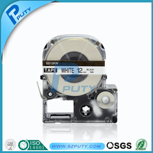Compatible SS12KW and LC-4WBN 12mm Black on White label tape for EPSON LW300 and LW400