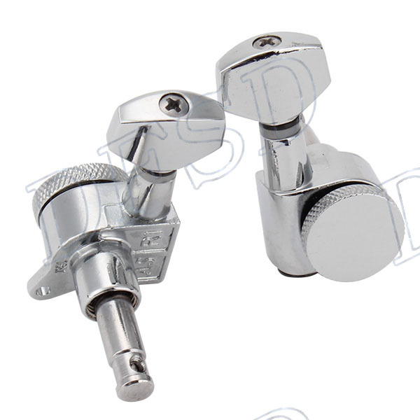 Generic Chrome Auto Lock Electric Acoustic Guitar Machine Heads 6R(China (Mainland))