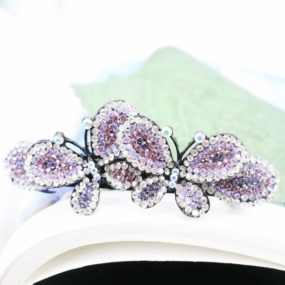 34*89mm Butterfly Bows Bowknot Wedding Headdress Headband Head Bands Headpiece Elegant Hair Accessory For women(China (Mainland))