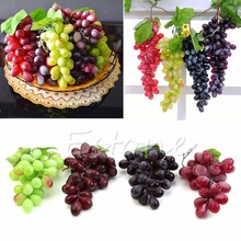 FREE SHIPPING NEW Lifelike Artificial Grapes Plastic Fake Fruit Food Home Decor Decoration(China (Mainland))