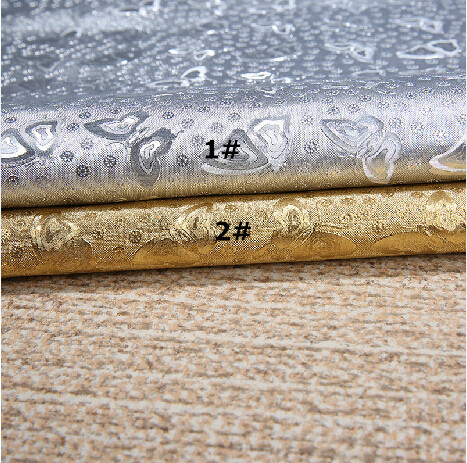 pvc fabric, leather leather, DIY materials, cosplay cloth, gold butterfly flower fabric, loss clearance(China (Mainland))