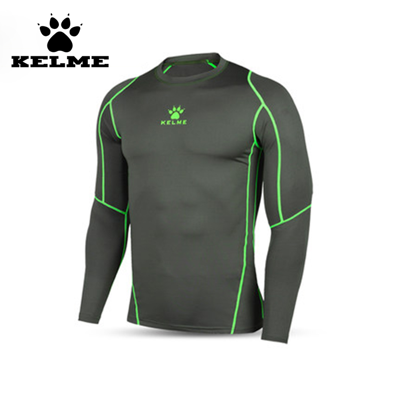 KELME 2016 Football Jersey Men Soccer Tights Jersey Top Quality Sport Fitness Jogging Long Sleeves Shirt Breathable Basketball28(China (Mainland))