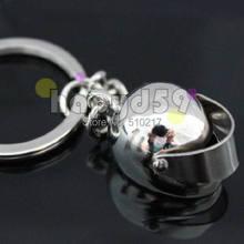 234pcs free ship alloy mini motorcycle helmet keychain car key ring couple lover key chain advertising gift keychains(China (Mainland))