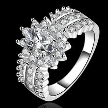 rings for women Silver Plated bague femme zirconia aneis Brand Jewelry Woman cubic zirconia finger ring